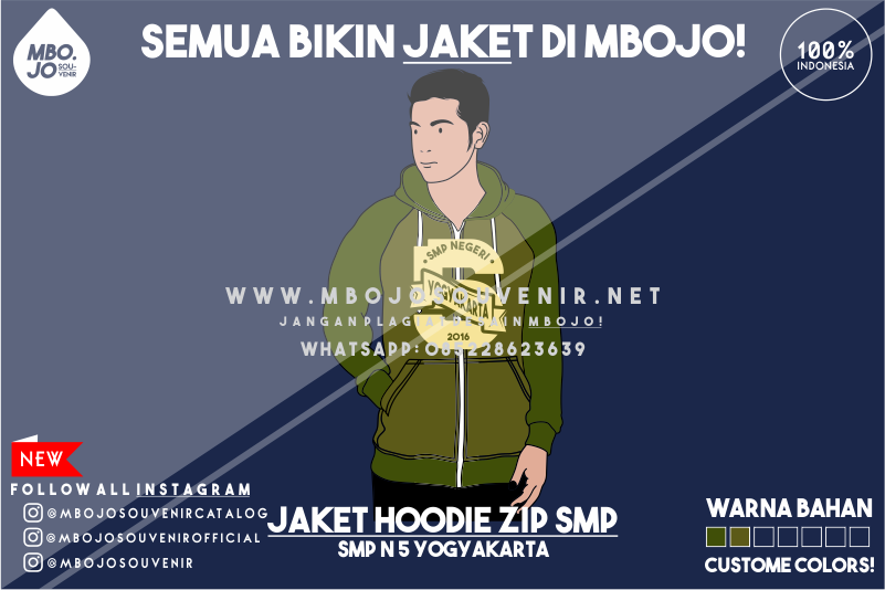 Desain Jaket Kelas SMP Negeri 5 Yogyakarta